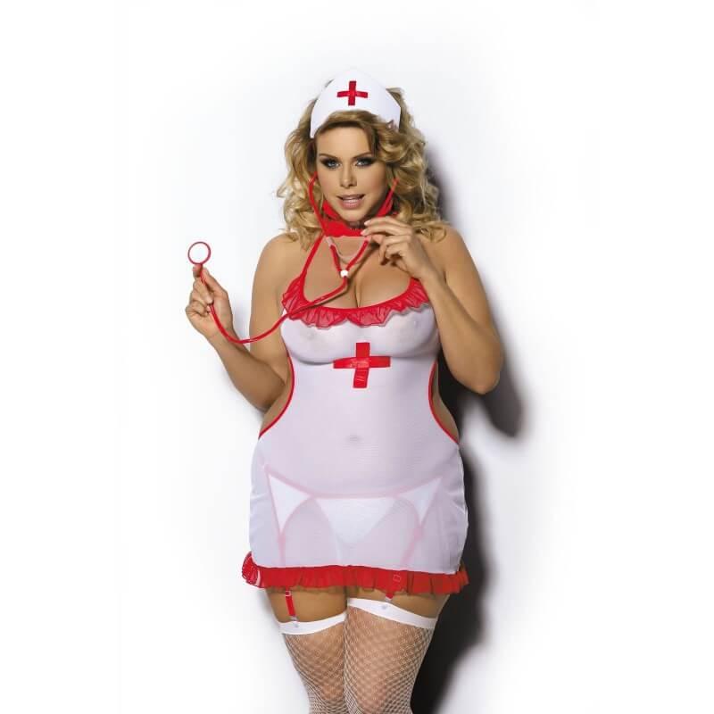 Seksowna pielęgniarka plus size - przebranie
